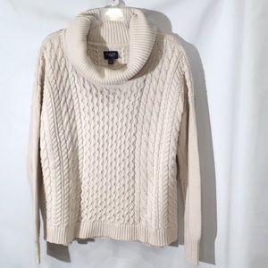 AEO Cowl Neck Cable Knit Sweater